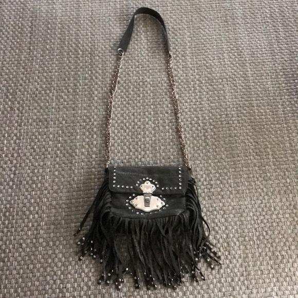 Cache Handbags - Cache green suede fringe purse